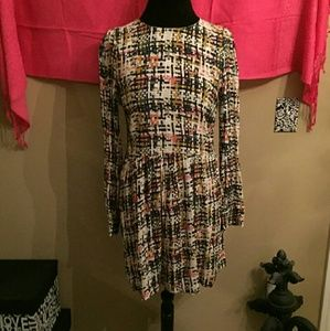 Zara long sleeve multicolor dress